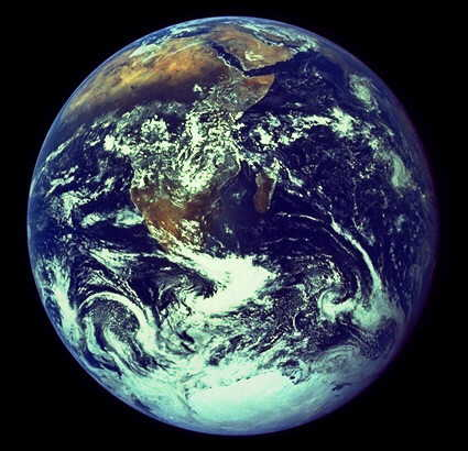 NASA image of the full earth taken by Apollo 17 Astronauts in 1971.