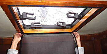 hatch screens for yachts