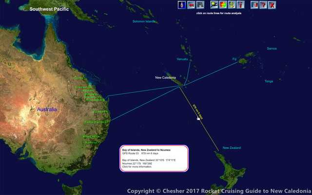 passages to New Caledonia